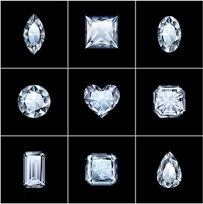 Diamonds all shapes and sizes